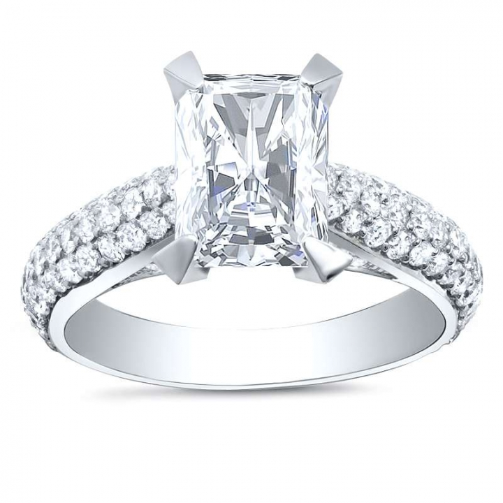 Unusual Radiant cut Engagement Rings