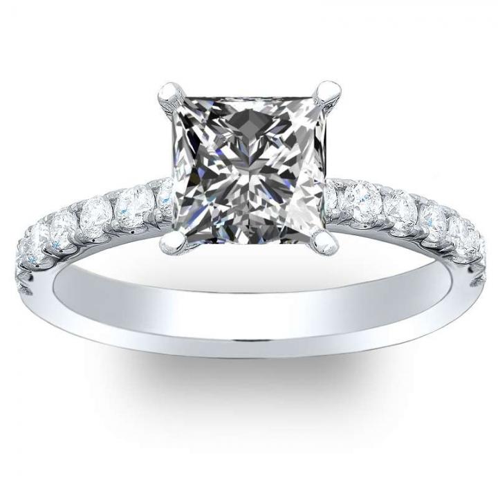 Princess cut Engagement Ring Settings