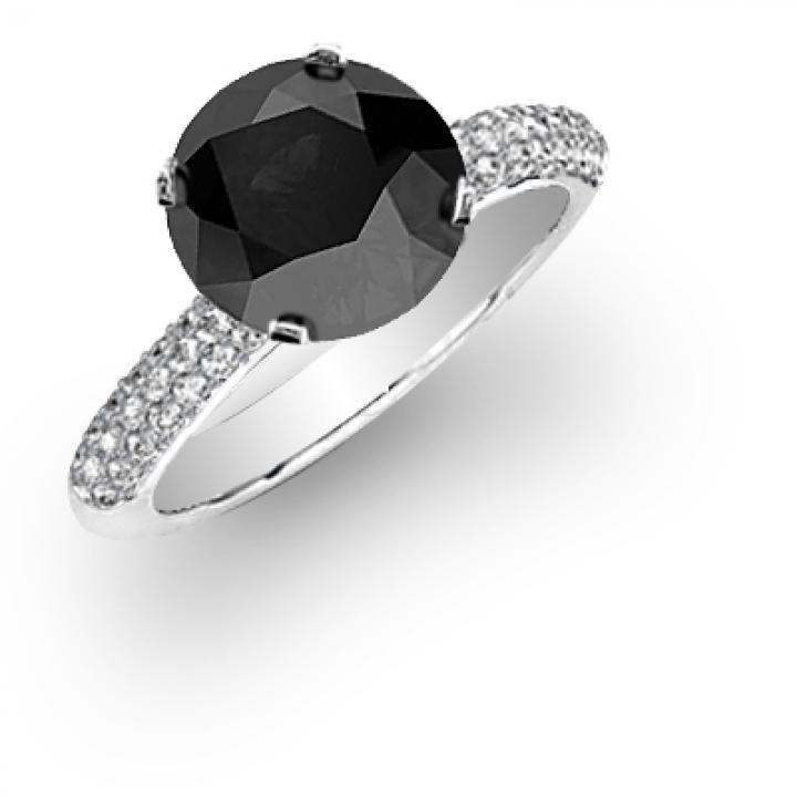 Classic Black Diamond Engagement Rings