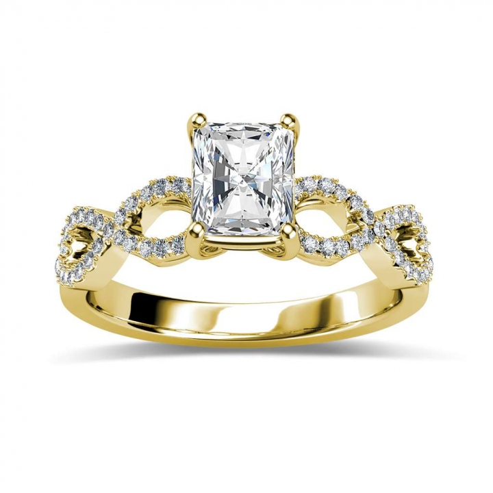 Yellow Gold Radiant cut Engagement Rings