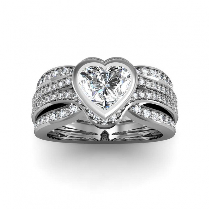 Trendy Heart Shape Engagement Rings