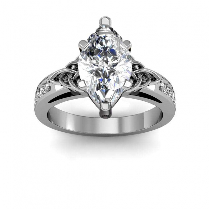 Celtic Marquise cut Engagement Rings