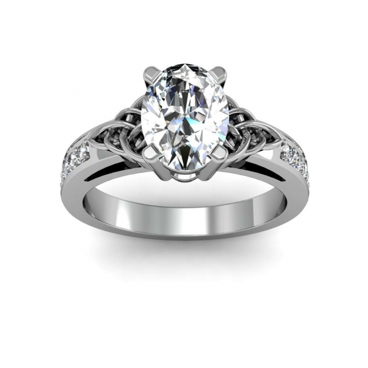 Celtic Oval cut Engagement Rings