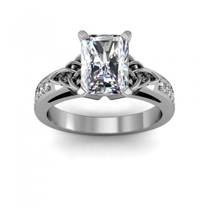 Trellis Radiant cut Engagement Rings