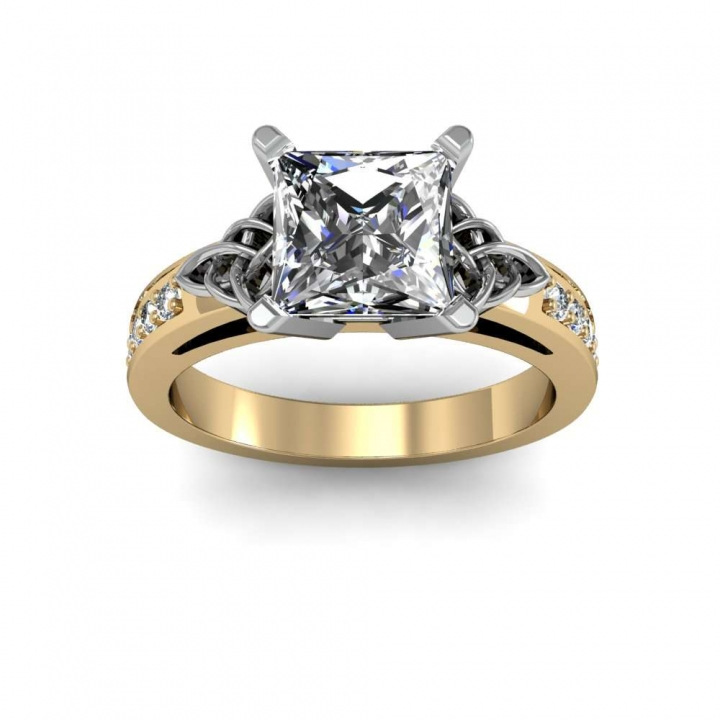 Celtic Yellow Gold Engagement Rings