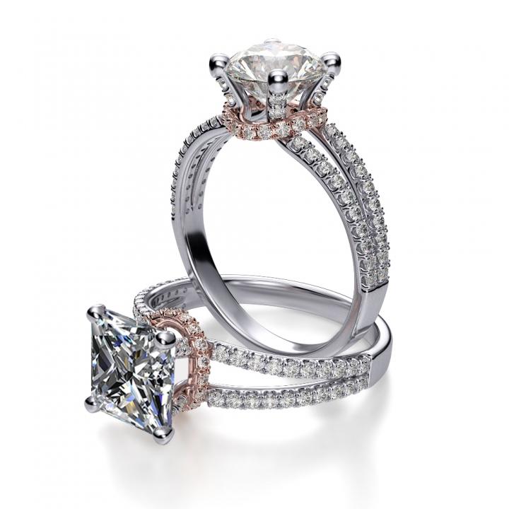 Classic Princess cut Engagement Rings