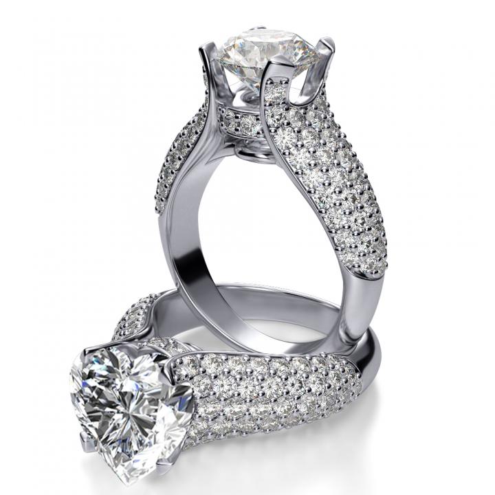 Classic Heart Shape Engagement Rings