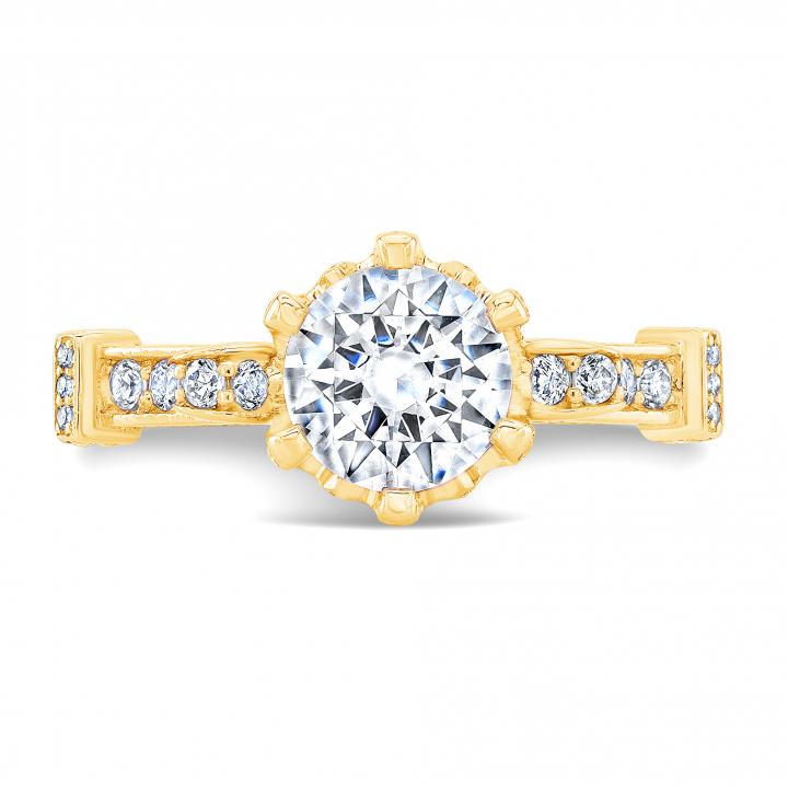 Edwardian Yellow Gold Engagement Rings