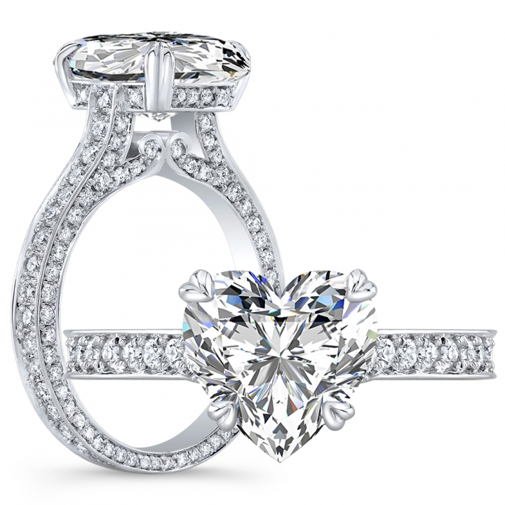 Antique Heart Shape Engagement Rings