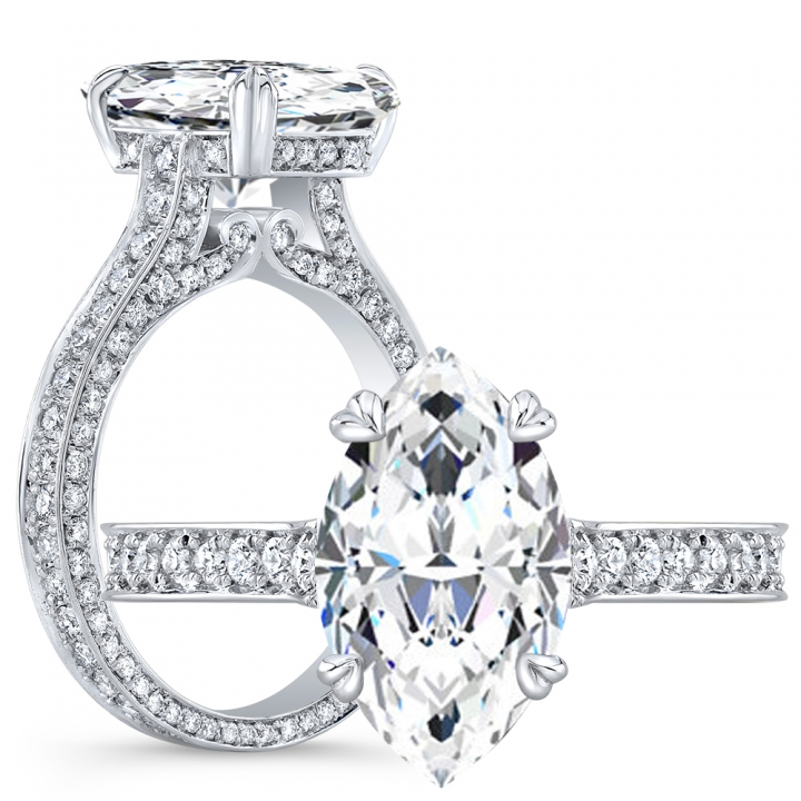 Antique Marquise cut Engagement Rings