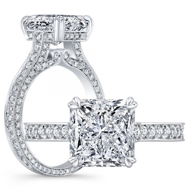 Antique Princess cut Engagement Rings