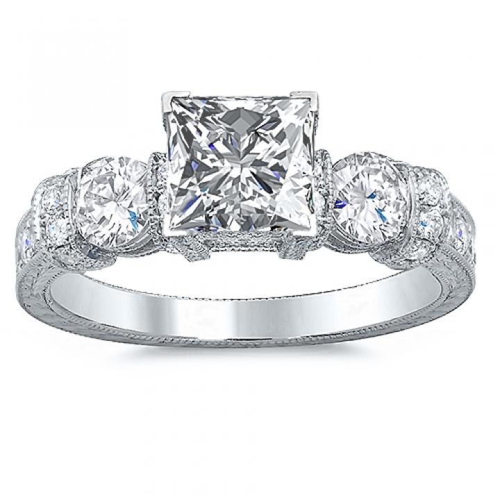 Stylish Princess cut Engagement Rings