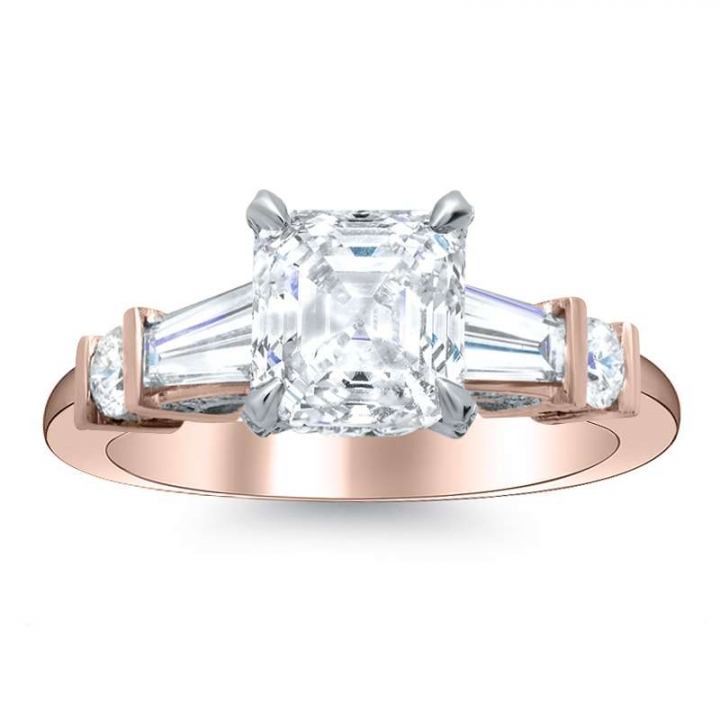5 Stone Rose Gold Engagement Rings