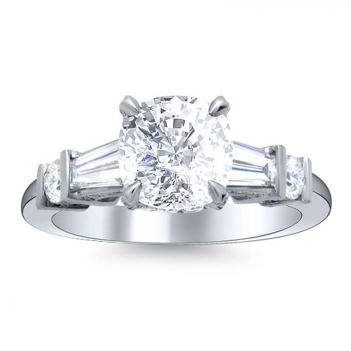 5 Stone Cushion cut Engagement Rings