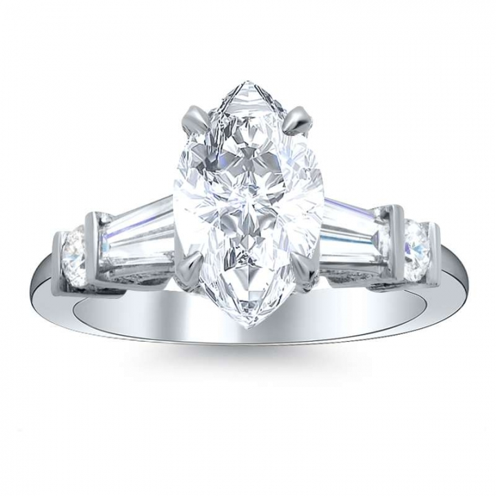5 Stone Marquise cut Engagement Rings