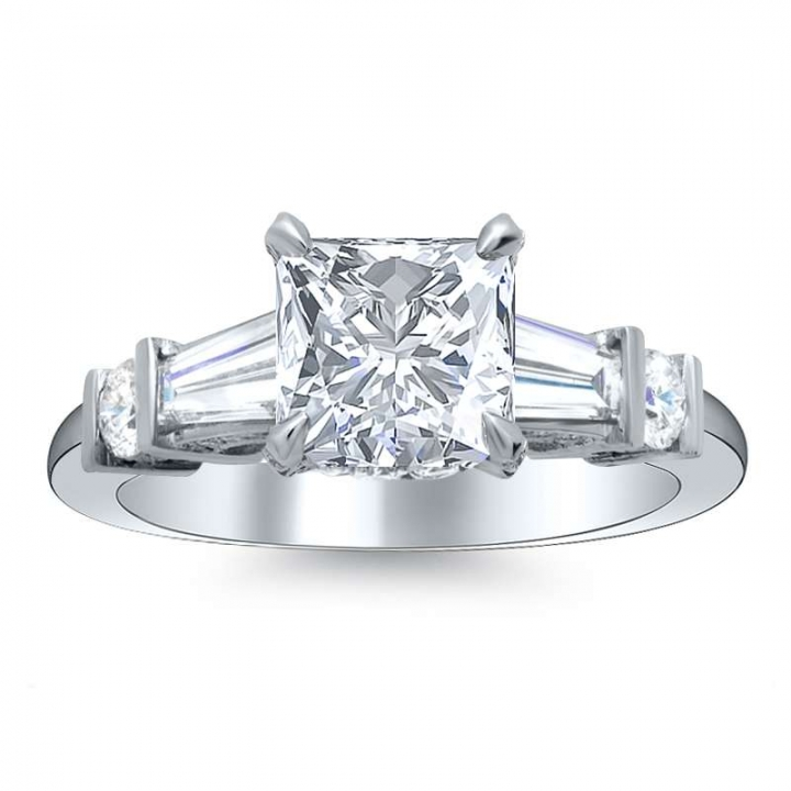 5 Stone Princess cut Engagement Rings