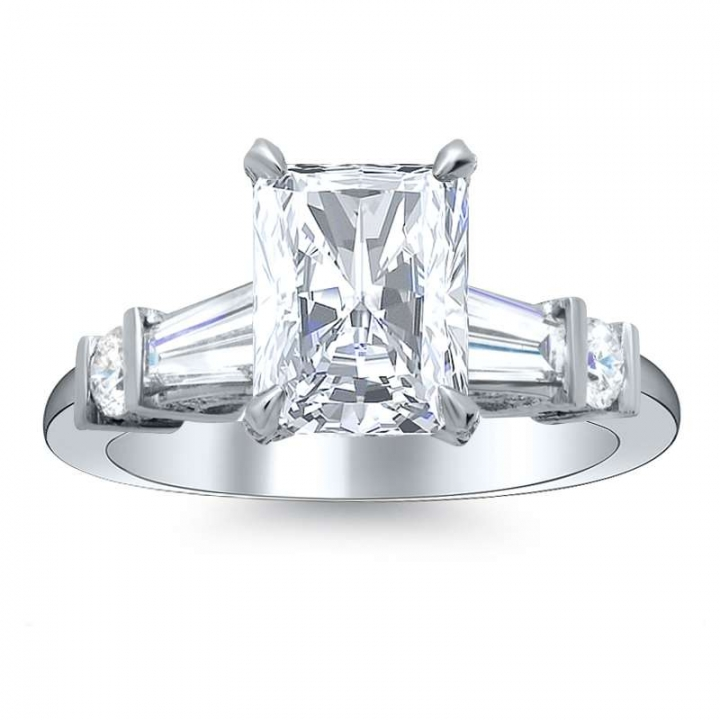 5 Stone Radiant cut Engagement Rings