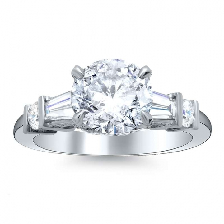 5 Stone Round cut Engagement Rings