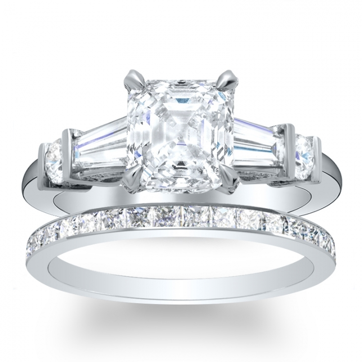 5 Stone Bridal Wedding Ring Sets