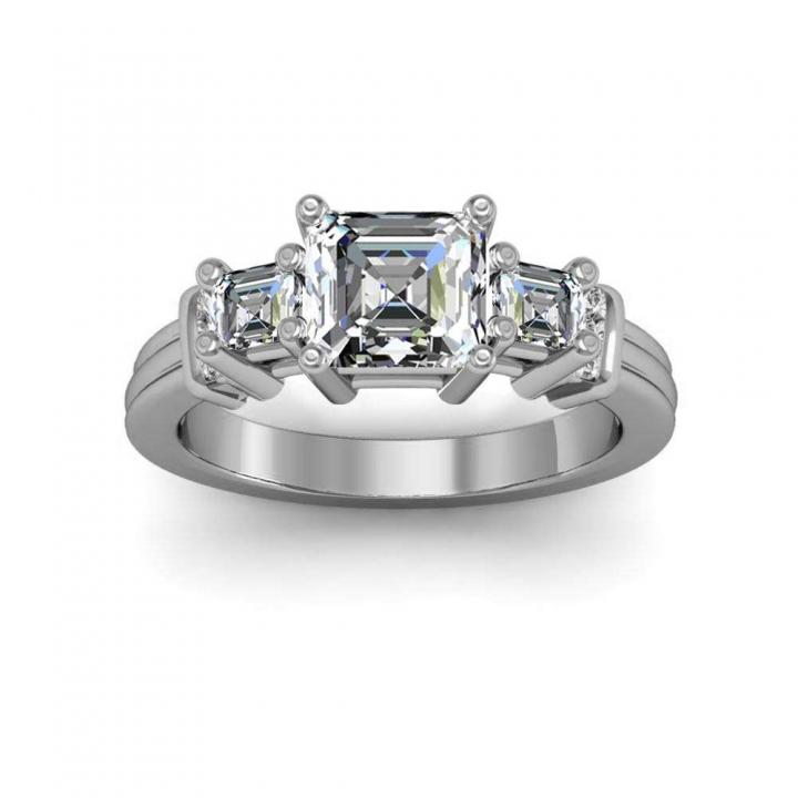 5 Stone Bezel Set Engagement Rings