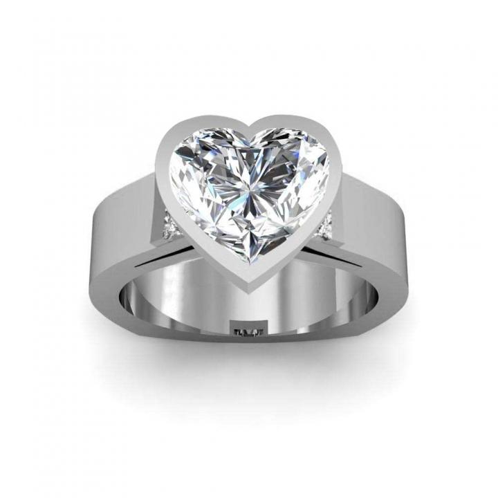 Euro Shank Heart Shape Engagement Rings