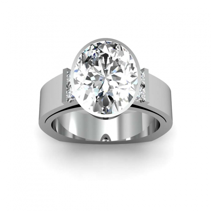 Euro Shank Oval cut Engagement Rings