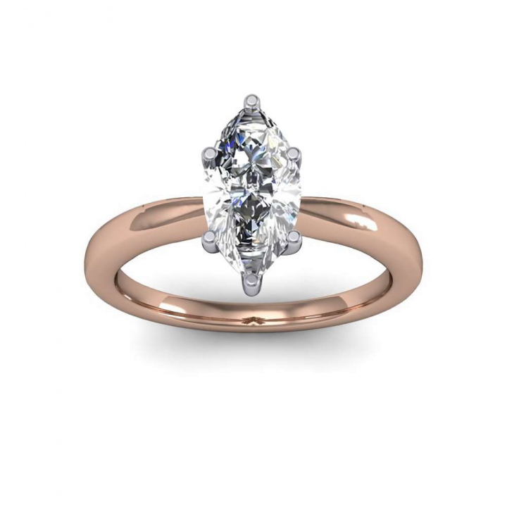 Rose Gold Marquise cut Engagement Rings