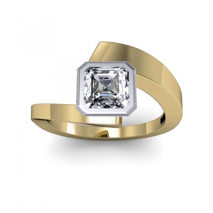 Yellow Gold Bezel Set Engagement Rings