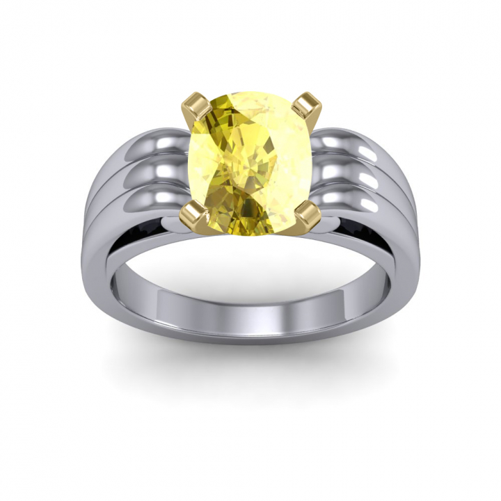 Solitaire Yellow Diamond Engagement Rings
