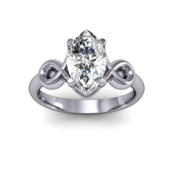 Stylish Marquise cut Engagement Rings