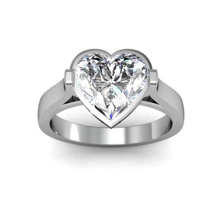 European Heart Shape Engagement Rings