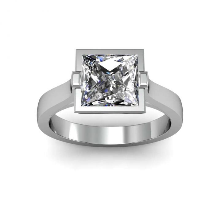 European Princess cut Engagement Rings