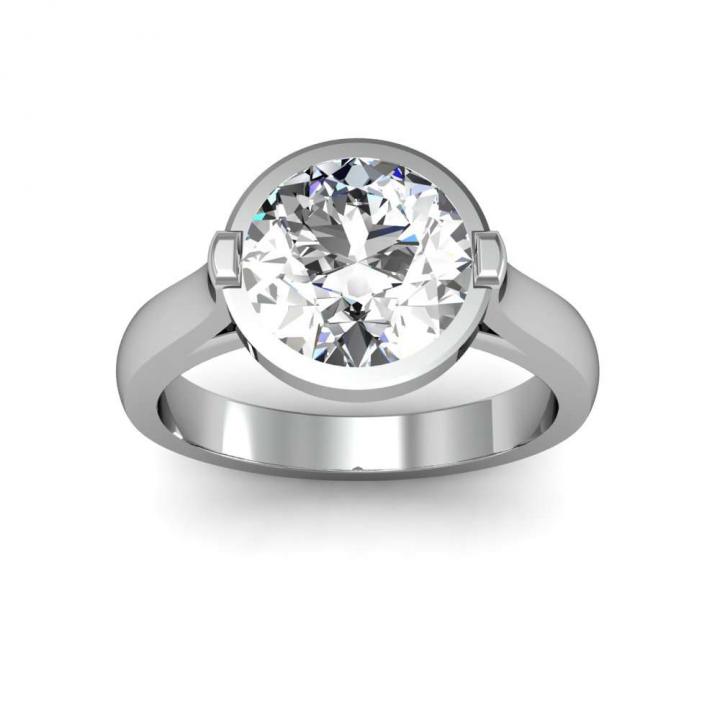 European Round cut Engagement Rings