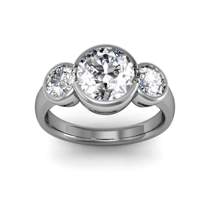 Stylish Bezel Set Engagement Rings