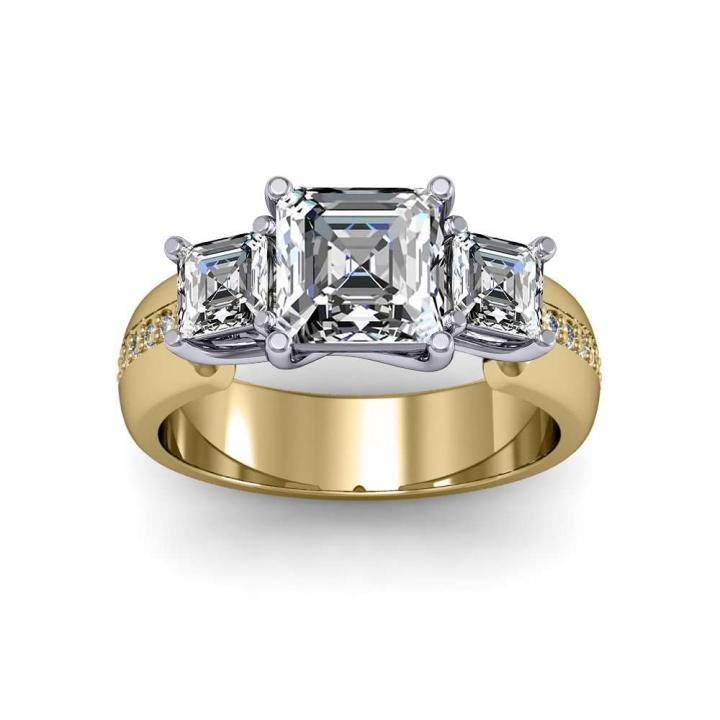 Trellis Yellow Gold Engagement Rings
