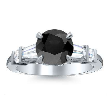5 Stone Black Diamond Engagement Rings