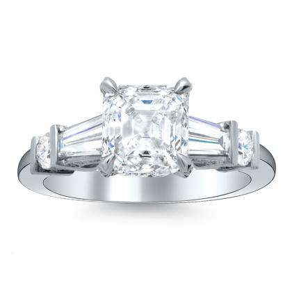 5 Stone Platinum Engagement Rings