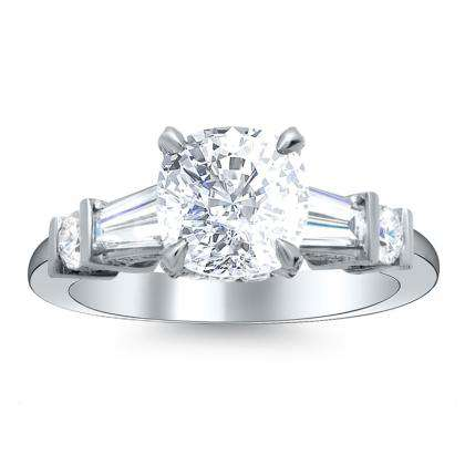 5 Stone Cushion cut Engagement Rings