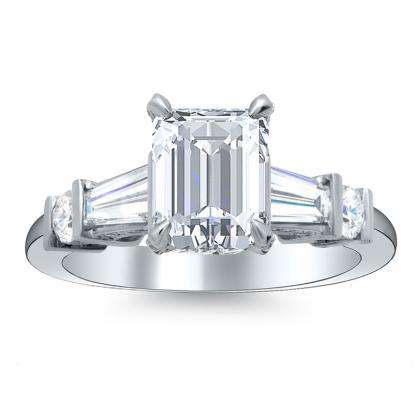 5 Stone Emerald cut Engagement Rings