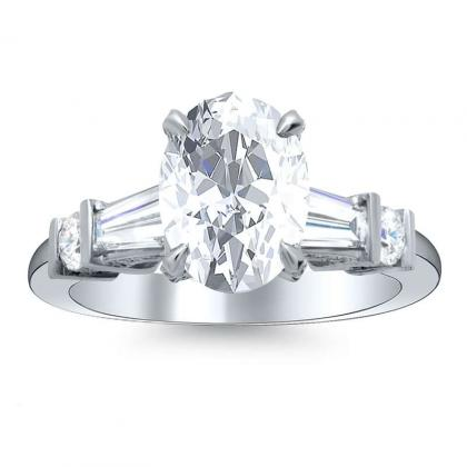 5 Stone Oval cut Engagement Rings