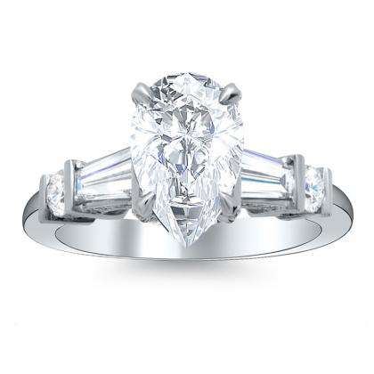 5 Stone Pear cut Engagement Rings