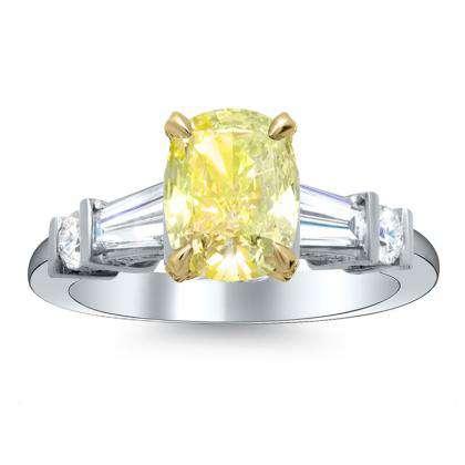 5 Stone Yellow Diamond Engagement Rings