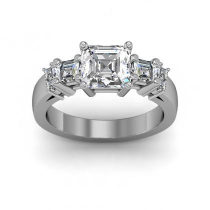 European Three Stone Engagement Rings