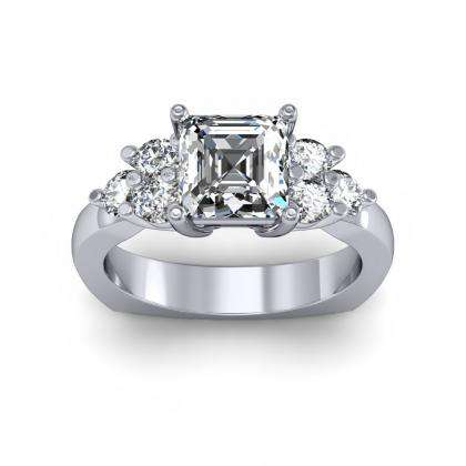 5 Stone Three Stone Engagement Rings