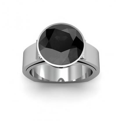 Bar Set Black Diamond Engagement Rings