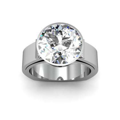 Tension Round cut Engagement Rings