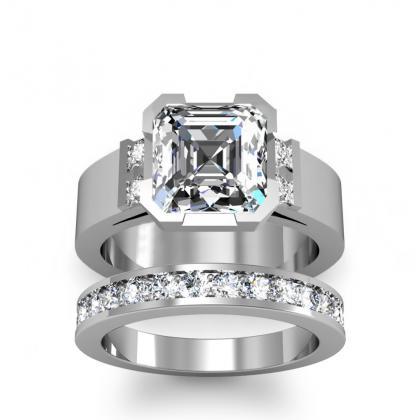 Bar Set Bridal Wedding Ring Sets