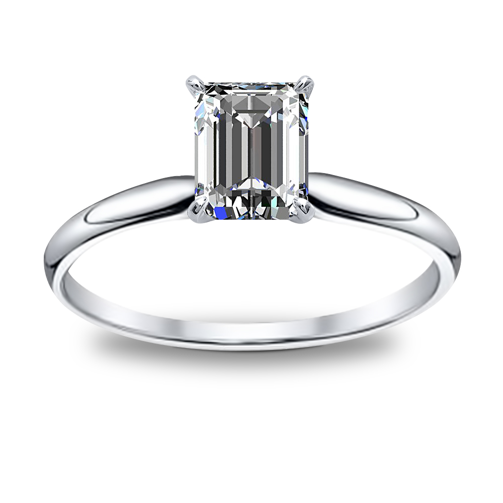 1ct Emerald Cut Natural Diamond Solitaire Diamond Engagement Ring Gia Certified Diamond Mansion
