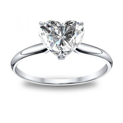 Heart Shape Solitaire Engagement Rings