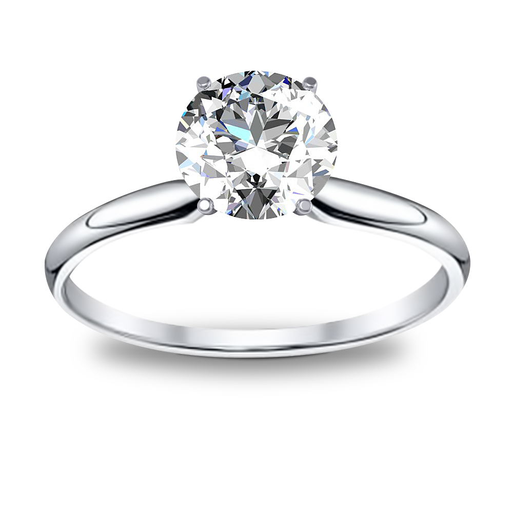 1 Ct Round Cut Natural Diamond Solitaire Diamond Engagement Ring Gia Certified